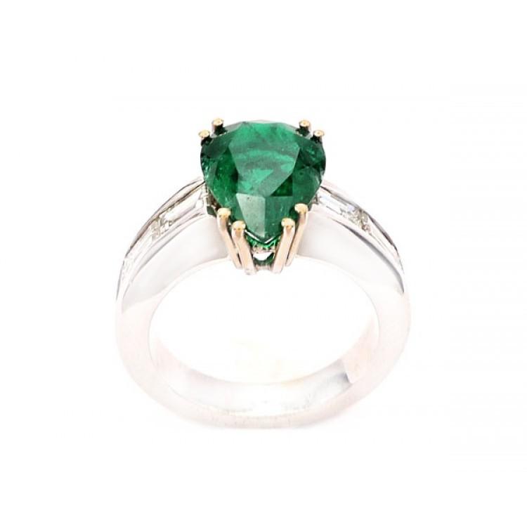 anillo esmeralda lagrima 4