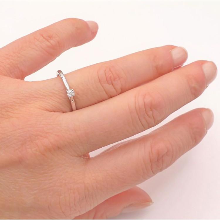 anillo compromiso clasico mano - lido