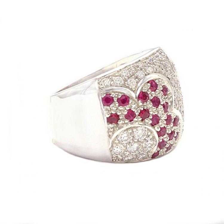 anillos de diamantes con rubies 2