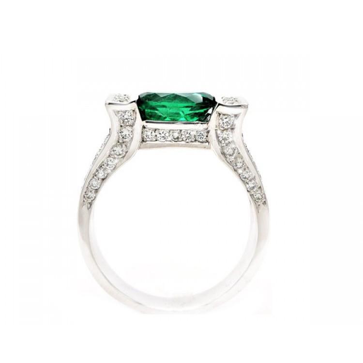 anillo esmeralda brillantes kintara 4