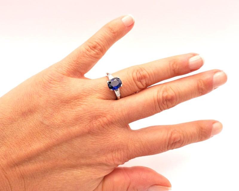 Anillo con Zafiro y diamantes - SRC 8