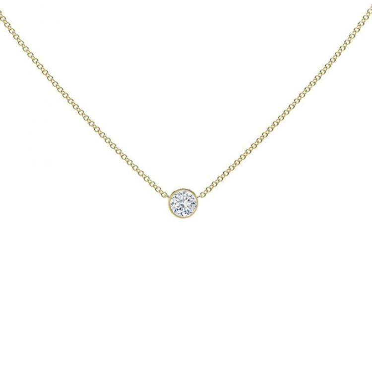 collar diamante oro amarillo