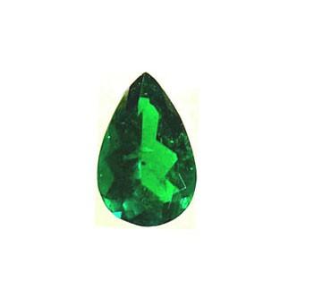 esmeralda colombiana en forma de pera