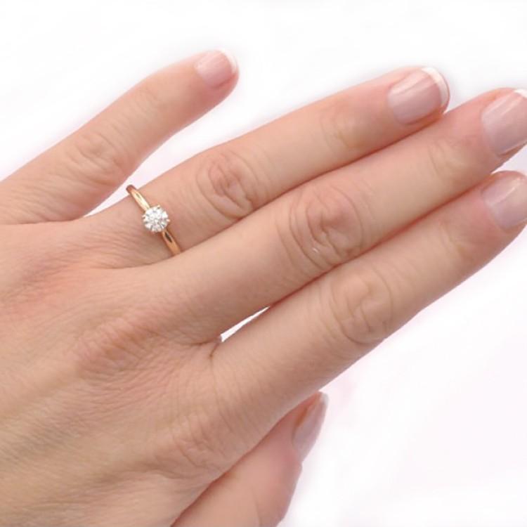 anillo mano oro rosa hanabi