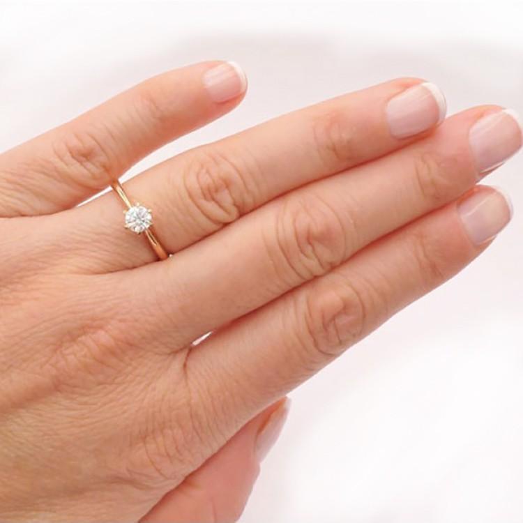 anillo mano MILAN oro rosa
