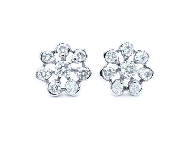 pendientes orla diamantes sencillos