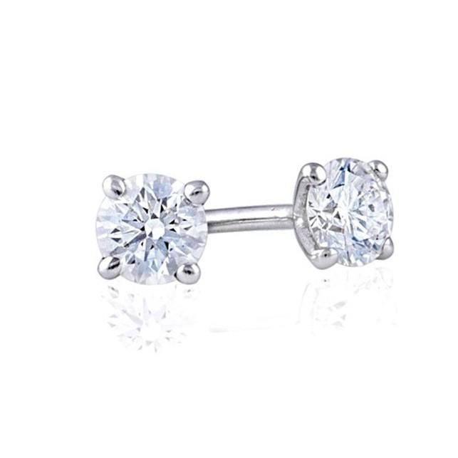 pendientes diamantes cuatro garras