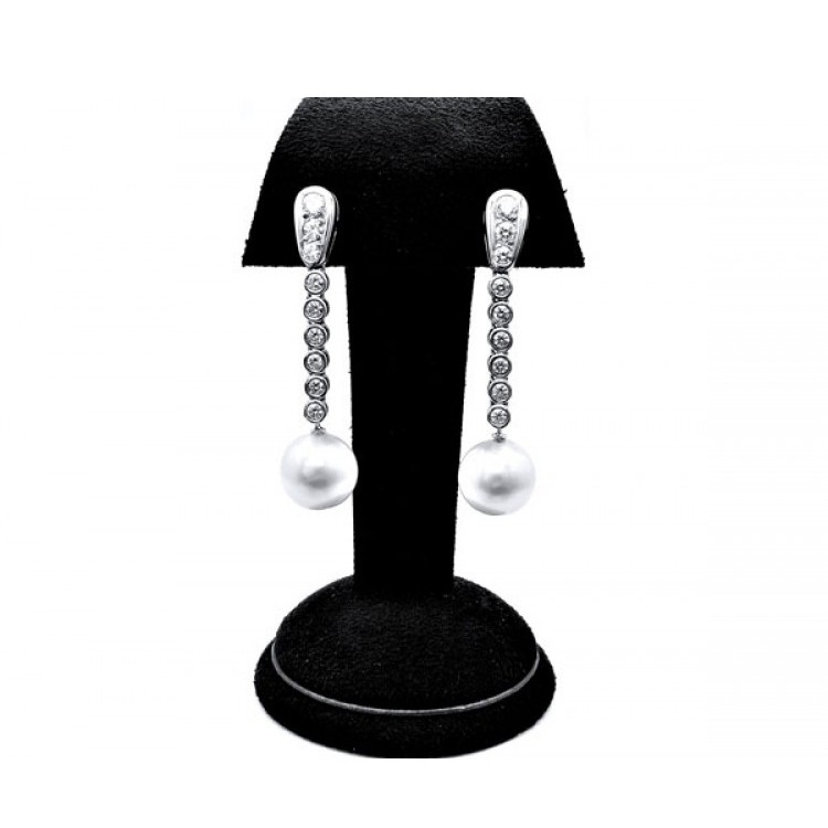 pendientes de perlas largos
