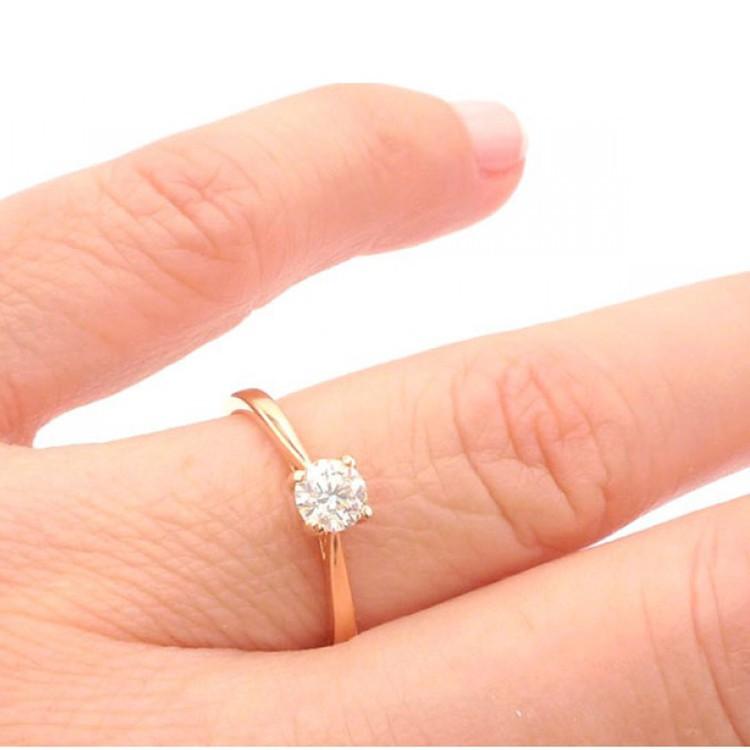 anillo mano oro rosa ARTEMISA