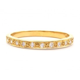 alianzas de boda diamantes oro amarillo
