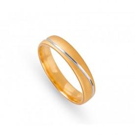 alianza boda amarillo linea blanca