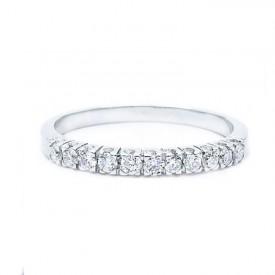 alianza diamantes oro blanco