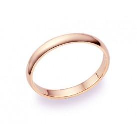 alianza de matrimonio oro rosa 2.5 milímetros