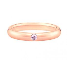 alianzas de boda oro rosa con un diamante