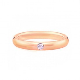 alianzas de boda oro rosa diamante