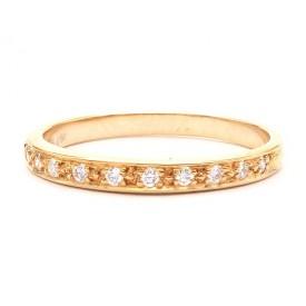 alianzas de boda diamantes oro rosa
