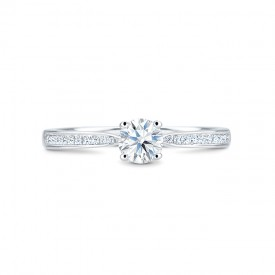 """Anillo """"BostonStyle"""" Oro blanco 18k y diamantes"""