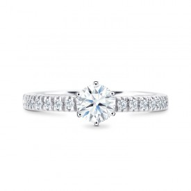 """Sortija con diamante """"Jaipur"""" talla brillante de diseño clásico y atemporal"""