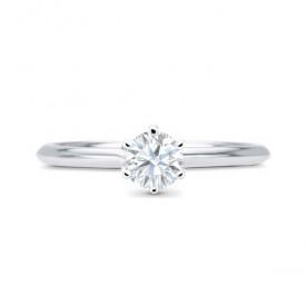 """Anillo """"Hana"""" en oro blanco de compromiso con diamante 0.20 clásico y elegante"""