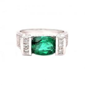 anillo esmeralda brillantes kintara
