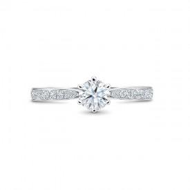 """Anillo """"Florencia""""  0.25 cts. Oro blanco 18k y diamantes"""