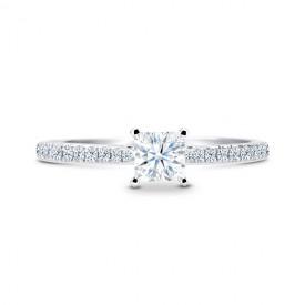 """""""Itami"""" Anillo de novia con diamante talla princesa"""