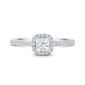 """Sortija en Oro y diamantes corte Princesa """"Kyoto"""""""