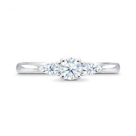 """Anillo de compromiso oro y 3 diamantes """"Masada"""""""