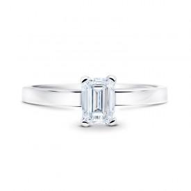 """""""SImplicity"""", solitario oro 18 quilates con un diamante de talla esmeralda"""