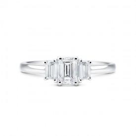 """Anillo """"Trilogy"""" 3 diamantes Oro blanco"""