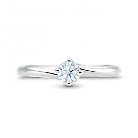 Anillo Clásico Platino Diamante