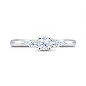 anillo compromiso tres diamantes MASADA SR28