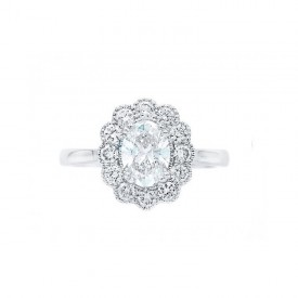 anillo con diamante oval OSAKA SRC 5