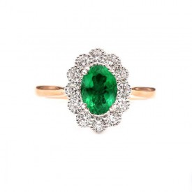 anillo esmeralda oval