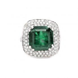 anillo esmeralda cuadrada