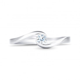 Anillo Moderno oro Blanco de Pedida | Diamante