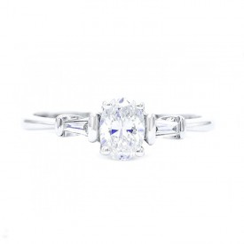 anillo diamante oval Florida
