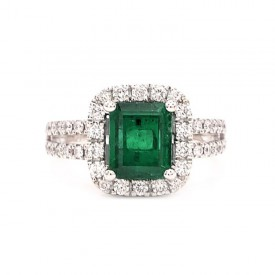 anillo esmeralda colombiana