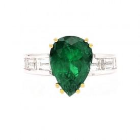 anillo esmeralda lagrima