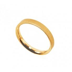 anillo oro mate