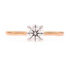 anillo de compromiso oro rosa