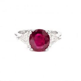 anillos de rubi con diamantes