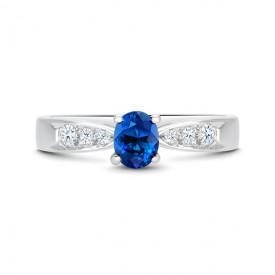 Anillo zafiro Azul Ovalado HIGASHI - SK 4 ZAF