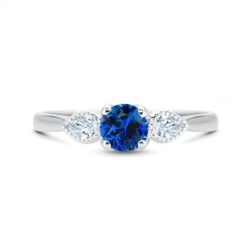 anillo zafiro Ceylan diamantes BLUE MAGIC SRC 44