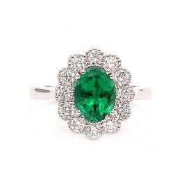 anillos de esmeraldas y diamantes