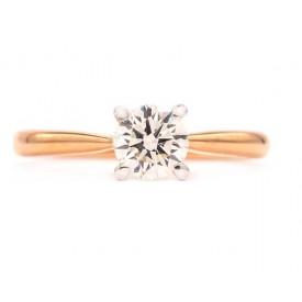 anillos de pedida oro rosa