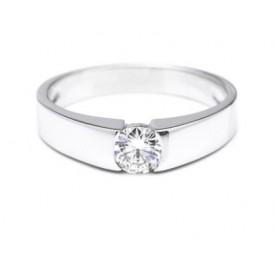 anillo de compromiso oro blanco