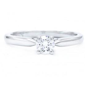 anillos solitarios diamantes oro blanco