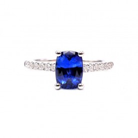 Anillo Brillantes con Zafiro Central BLUE CAIRO - SR 22 ZAF