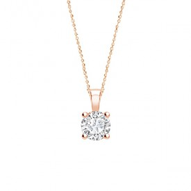 colgante-diamante-cuatro-garras-oro-rosa